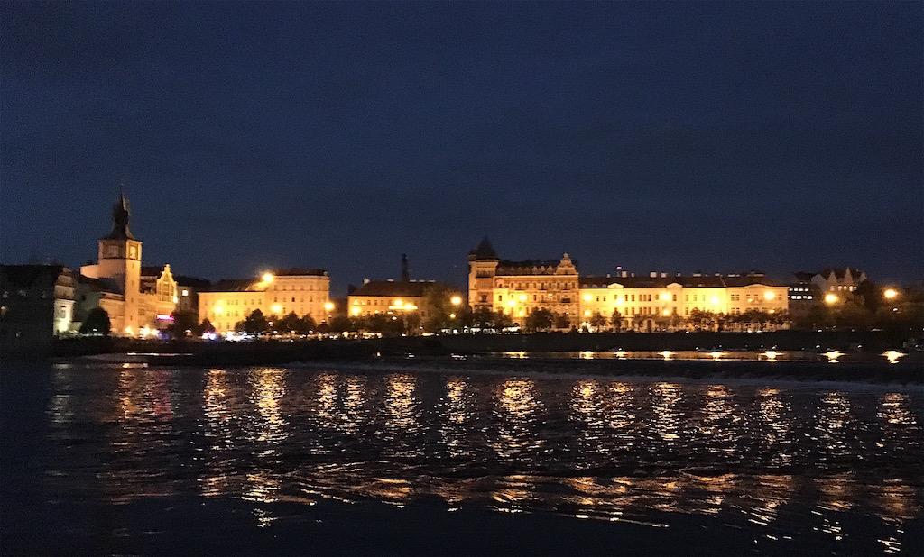 prague czech republic night lights