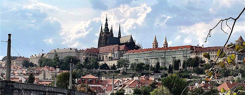prague castle on hill czech republic