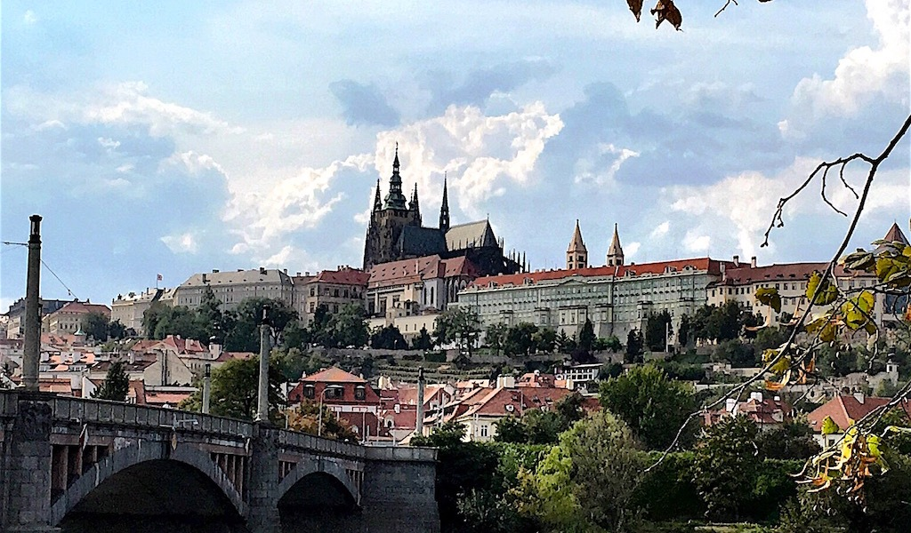 prague castle on hill czech republic