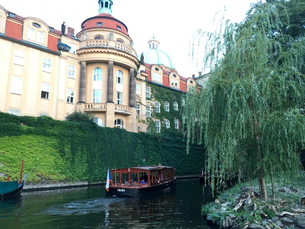 Praha boat canal vltava river prague