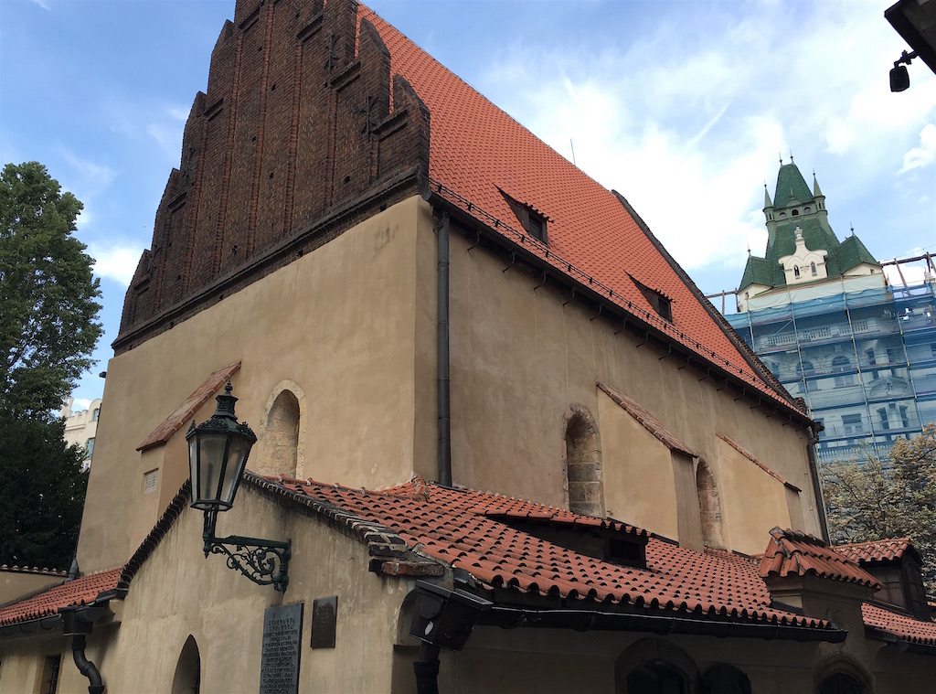 staronava old new synagogue prague jewish quarter