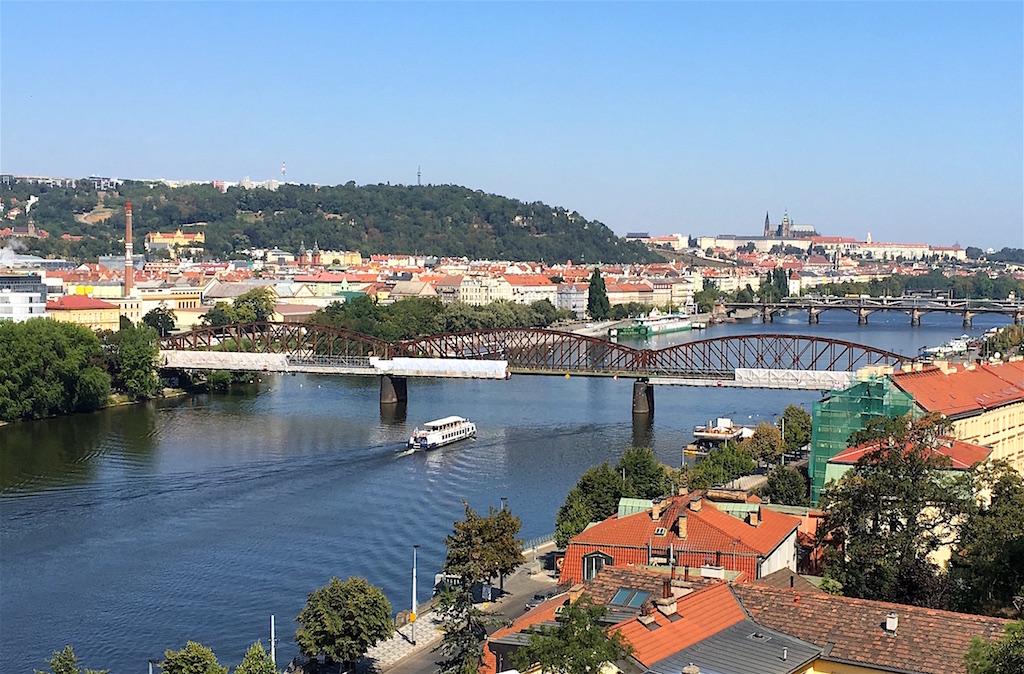 Vysehrad views of Vltava river