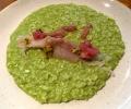green pea risotto seabream carpaccio