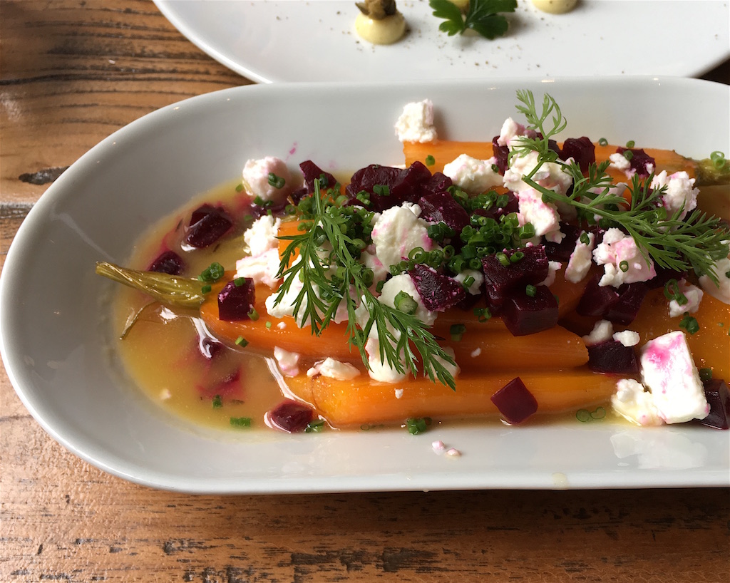 glazed carrots honey feta beets Pohostinec Monarch