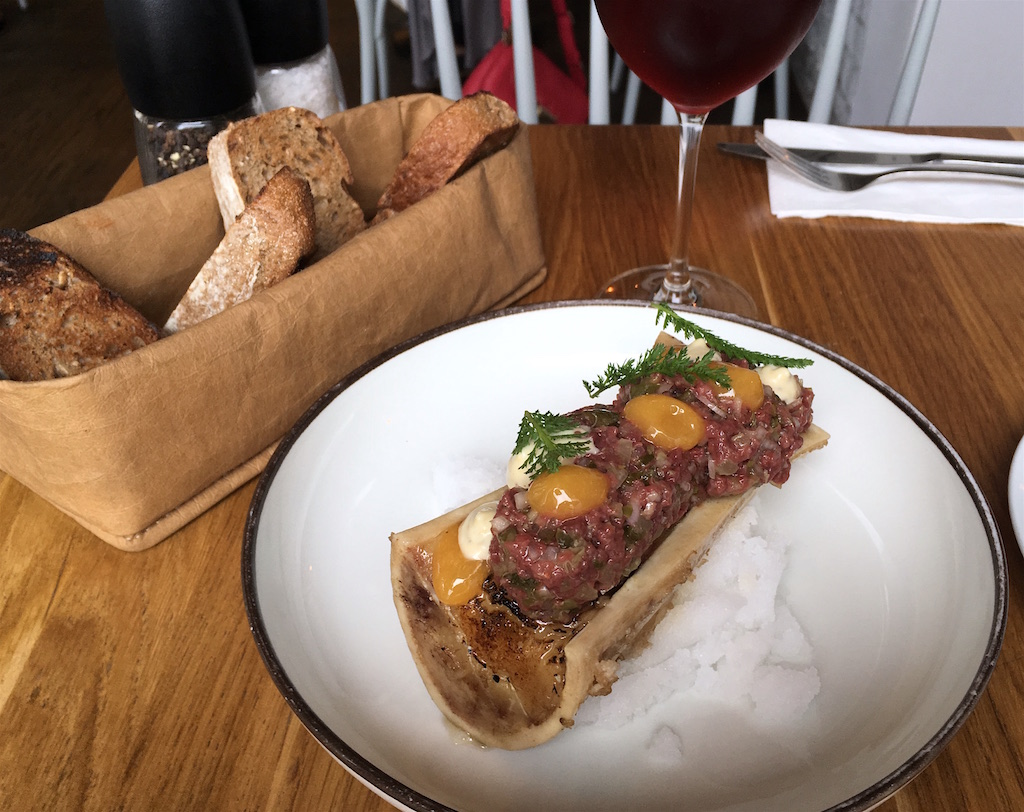 beef heart tartar marrow bone nejen bistro prague