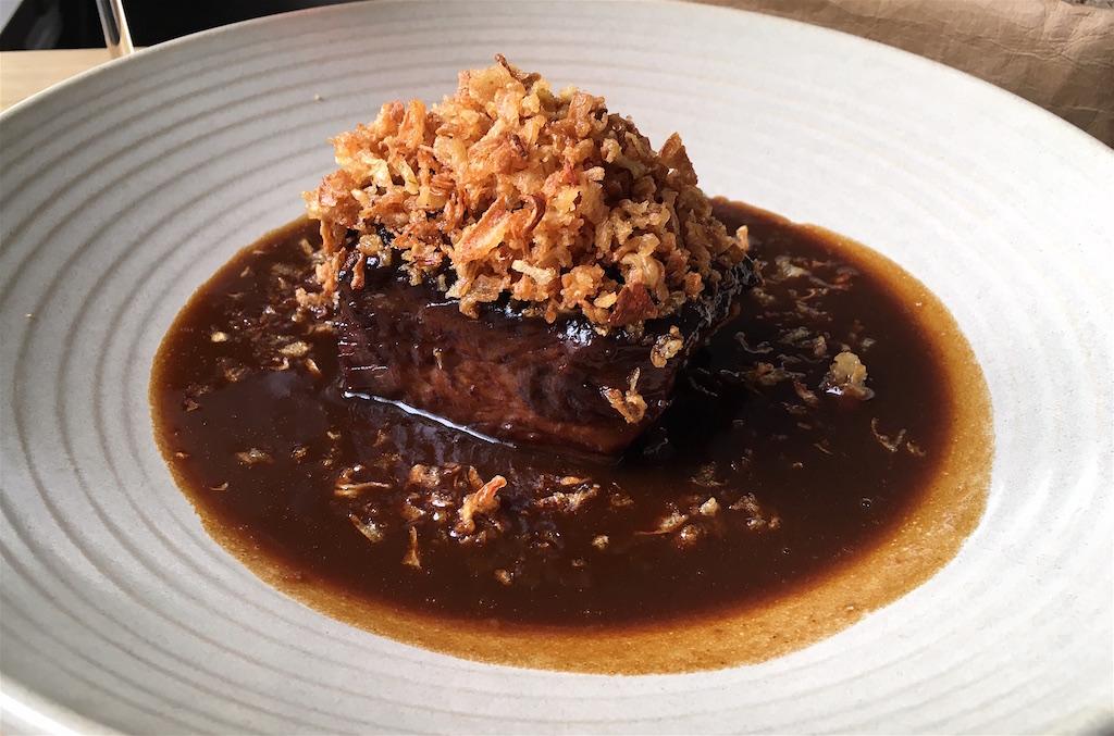 beef ribs crispy shallots nejen bistro prague