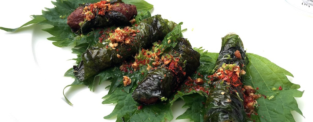 lamb wraps betel leaves sansho prague