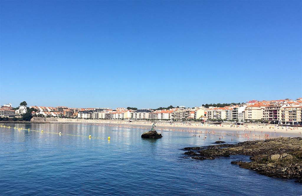 Sanxenxo Silgar Beach Galicia Spain