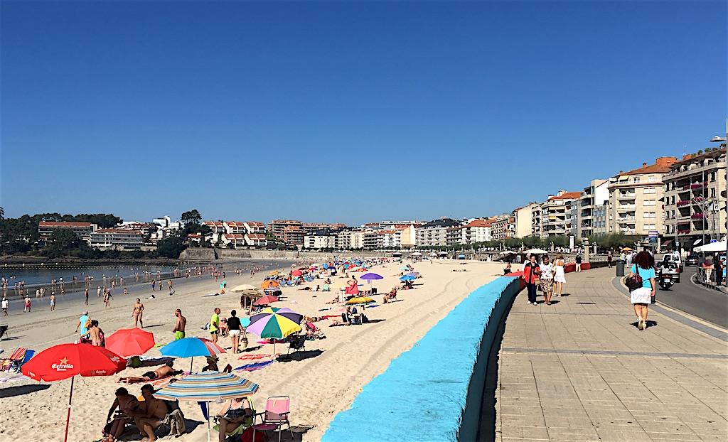 Silgar beach sanxenxo spain
