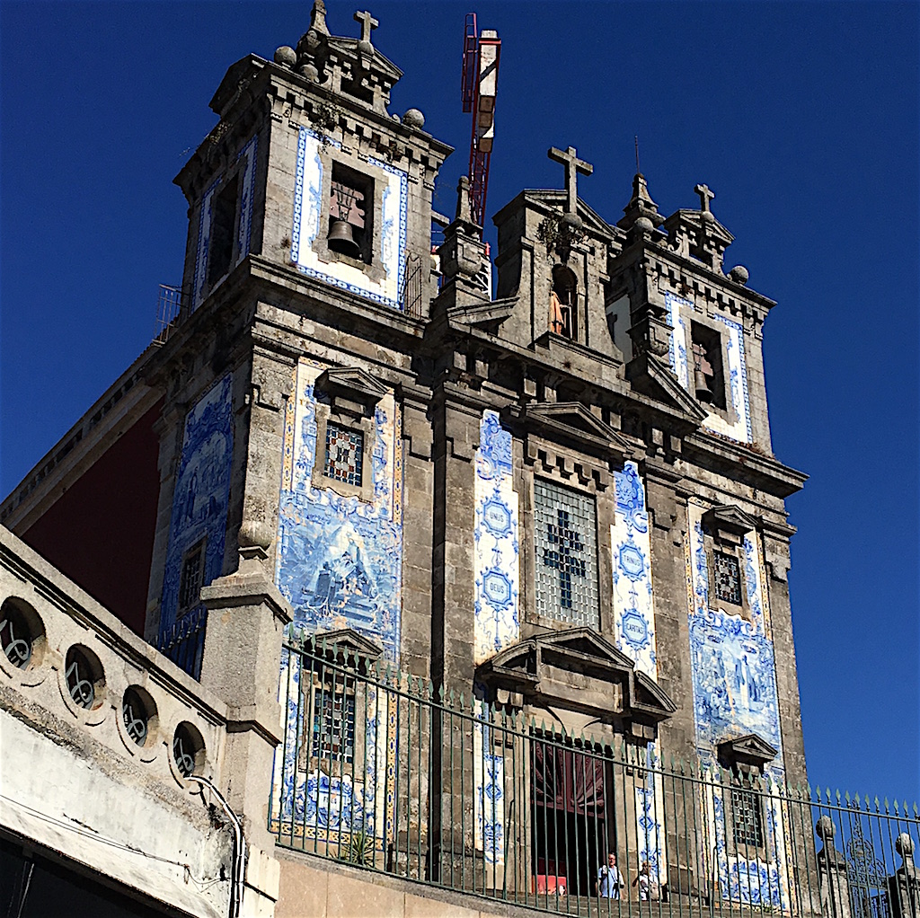 Church Santo Ildefonso Portuguese tiles
