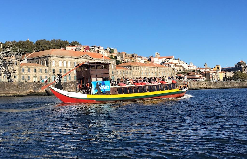 Rabelo boat Douro River Porto Portugal