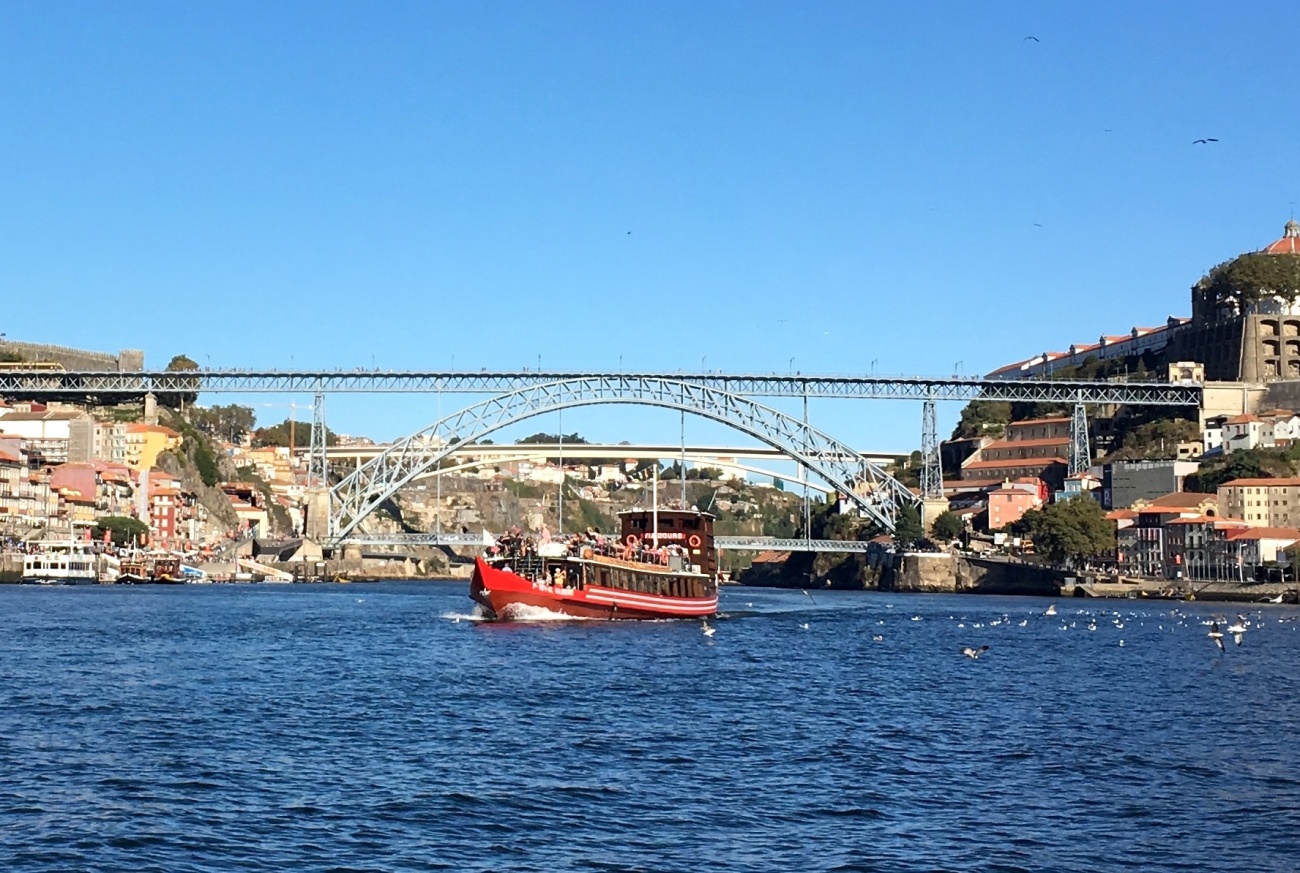 Dom Luis Bridge Douro River Porto Portugal