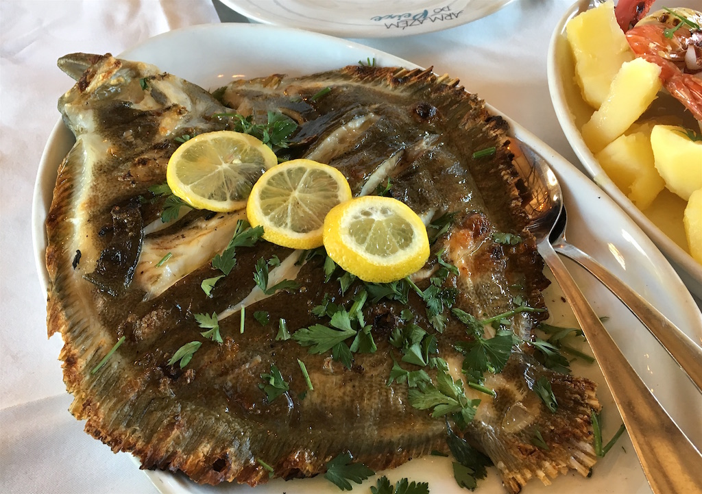 grilled turbot rodovallho Armezem do Peixe Portugal