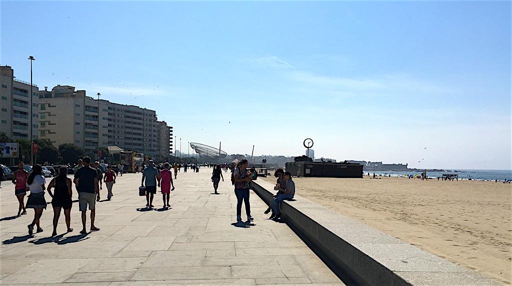 Beach Praia de Matosinhos promenade portugal