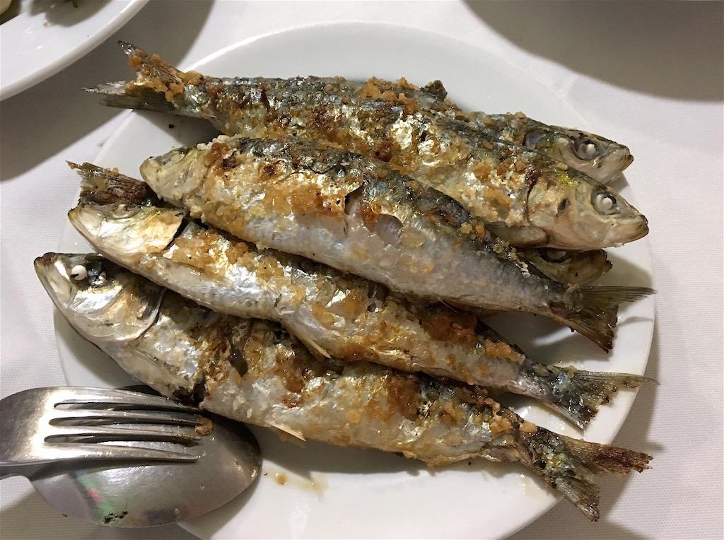 Grilled sardines Matosinhos Portugal