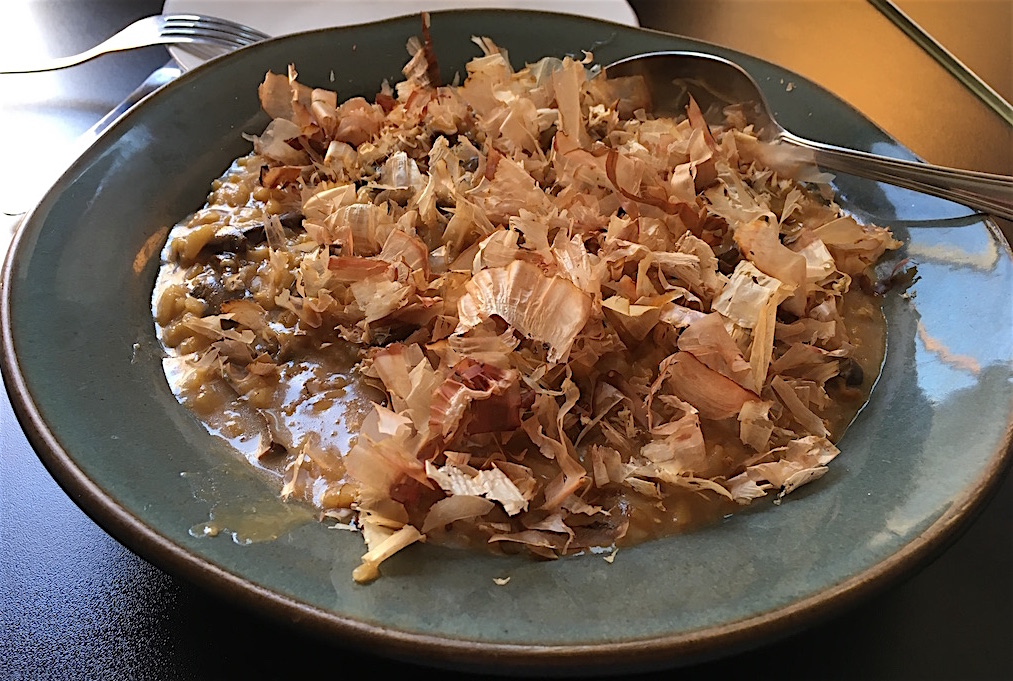 mushroom risotto cruel restaurante porto