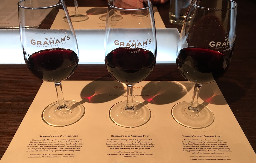 grahams super premium vintage port tasting