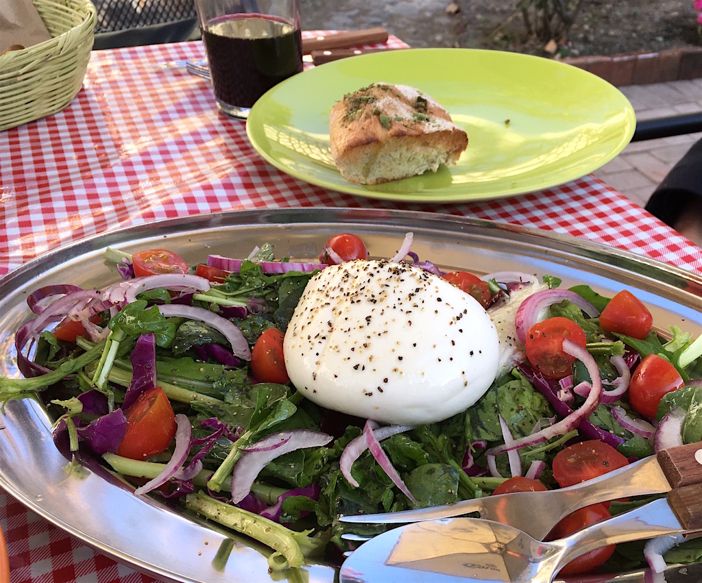 burrata cheese arugula salad fiamma san miguel