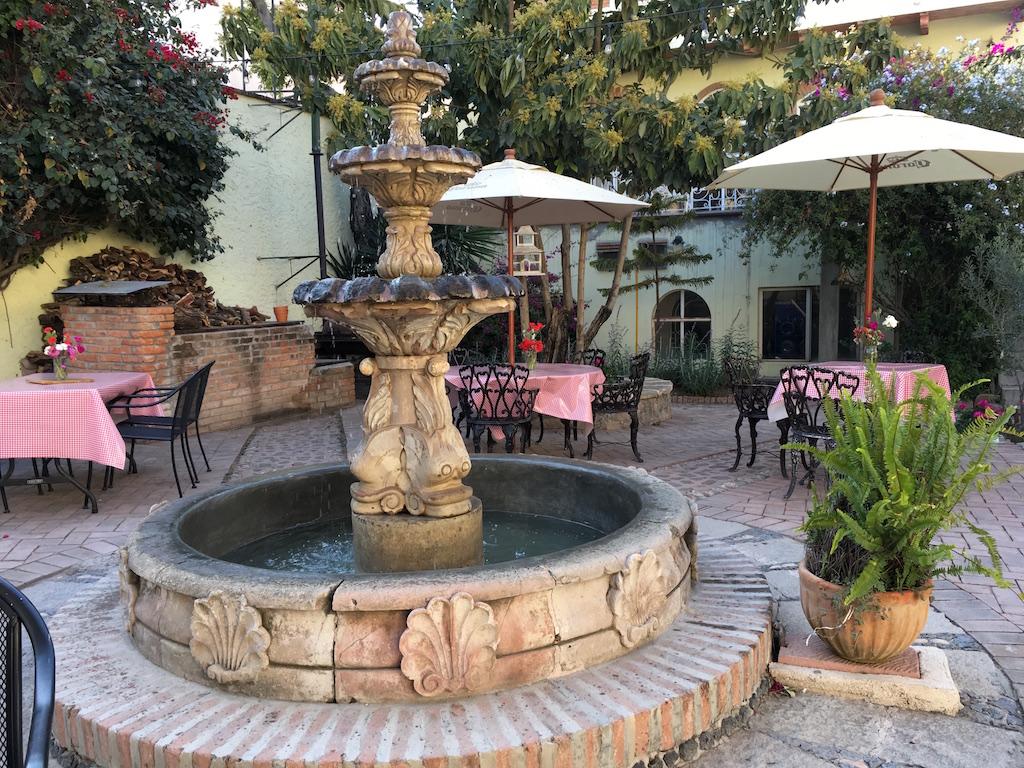 Fiamma courtyard fountain San Miguel de Allende Mexico