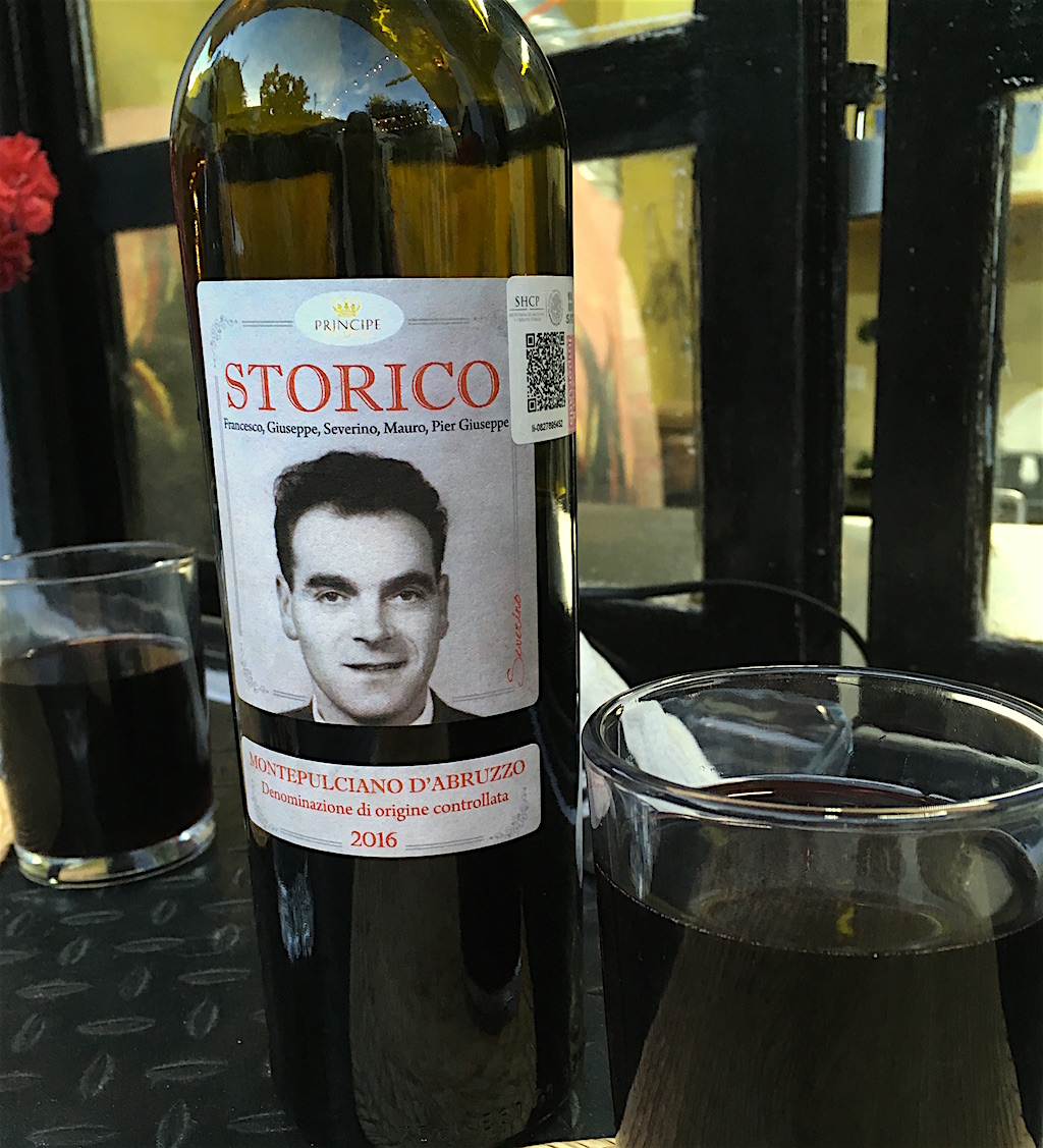 Storico Montepulciano D'Abruzzo wine bottle