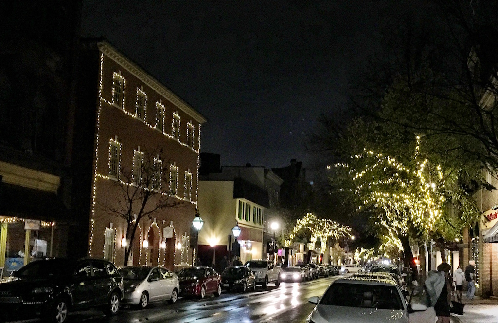 Historic Frederick Maryland Holiday lights