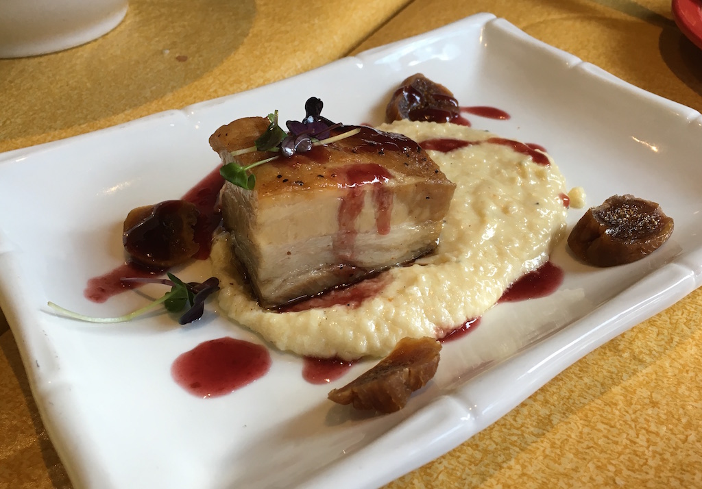 pork belly cheese grits isabellas frederick
