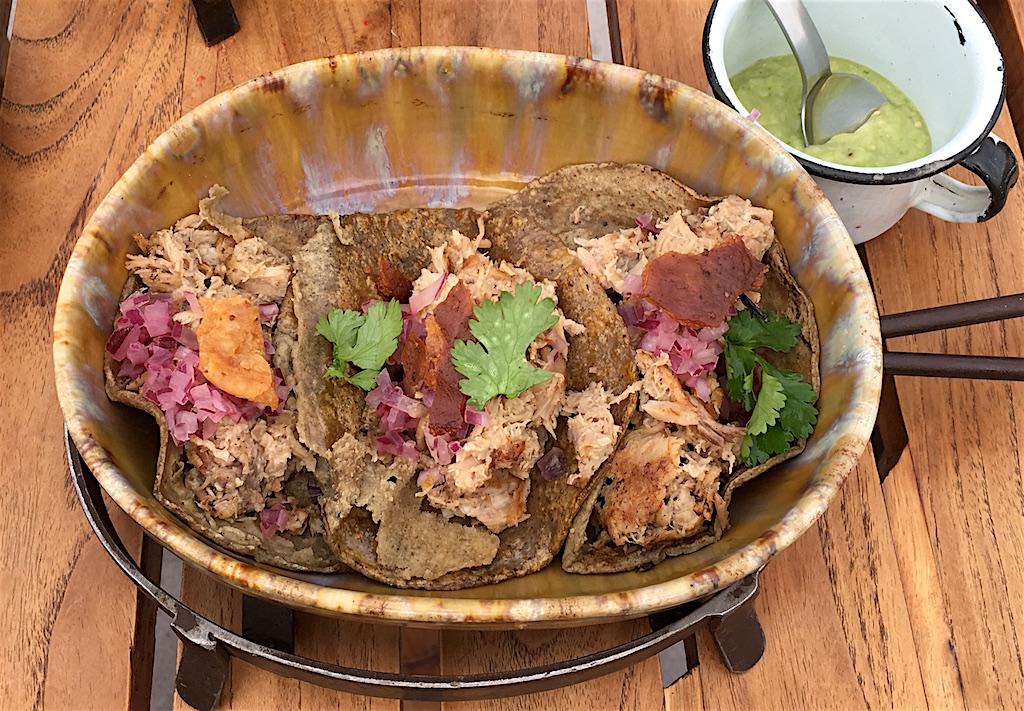 suckling pig tacos salsa verde Luna Tapas Bar