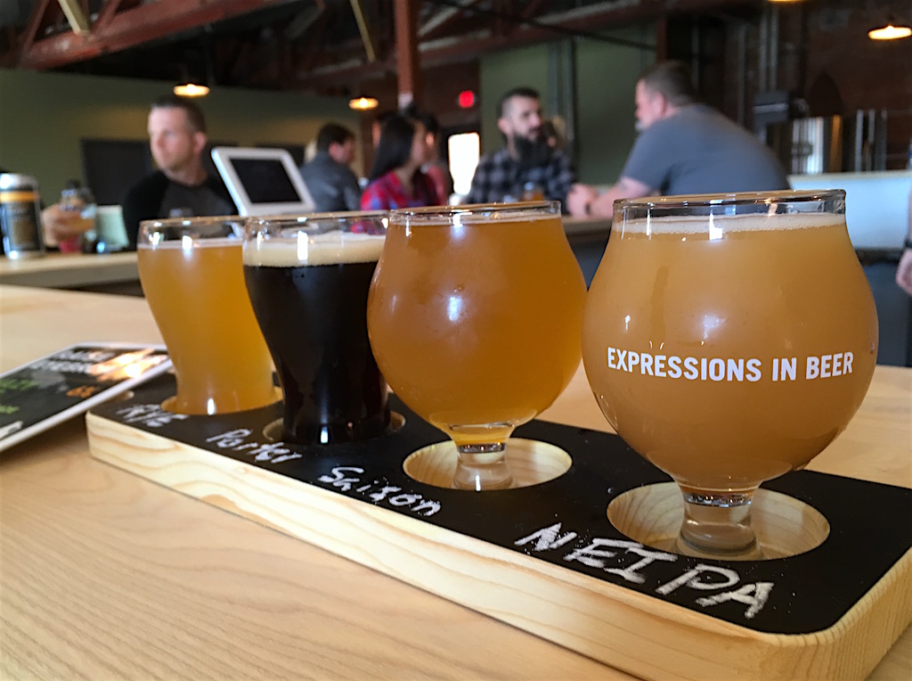 Idiom brewing beer tasting flight