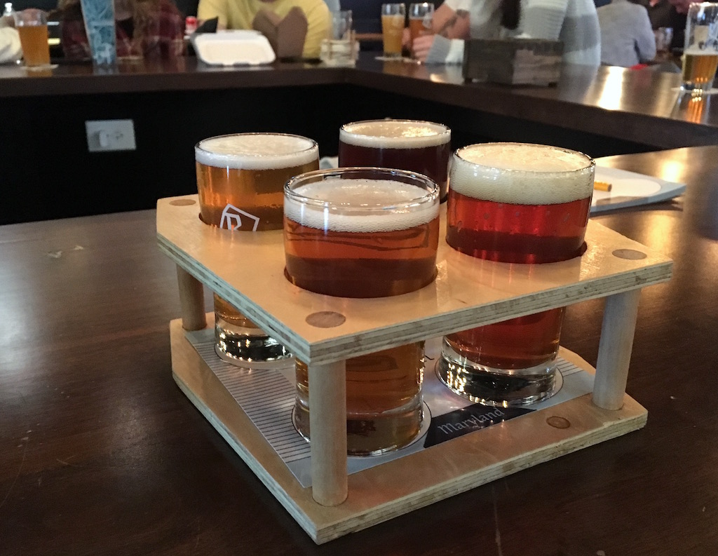 Rockwell Brewery beer tasting flight