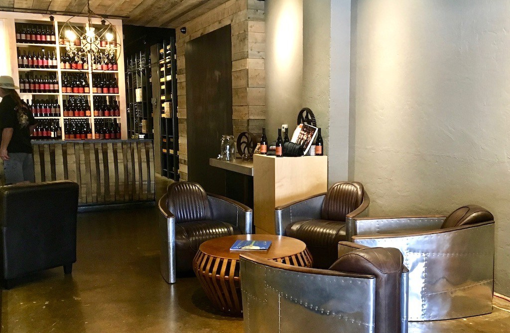 Aridus Winery tasting room lounge chairs