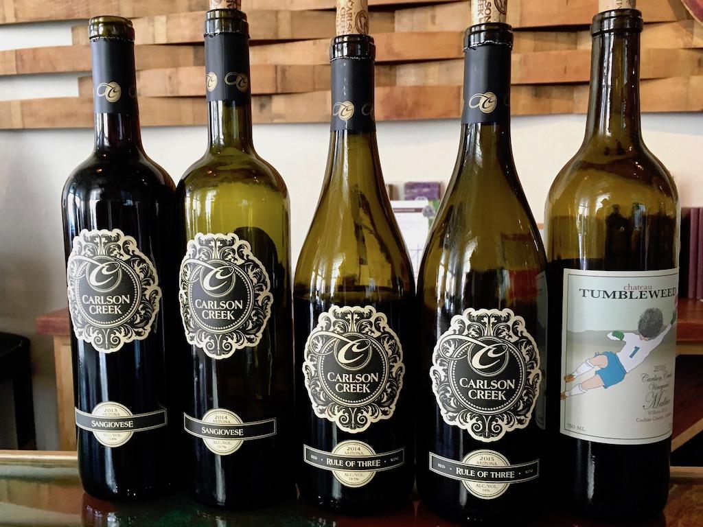 carlson creek winery bottle lineup scottsdale