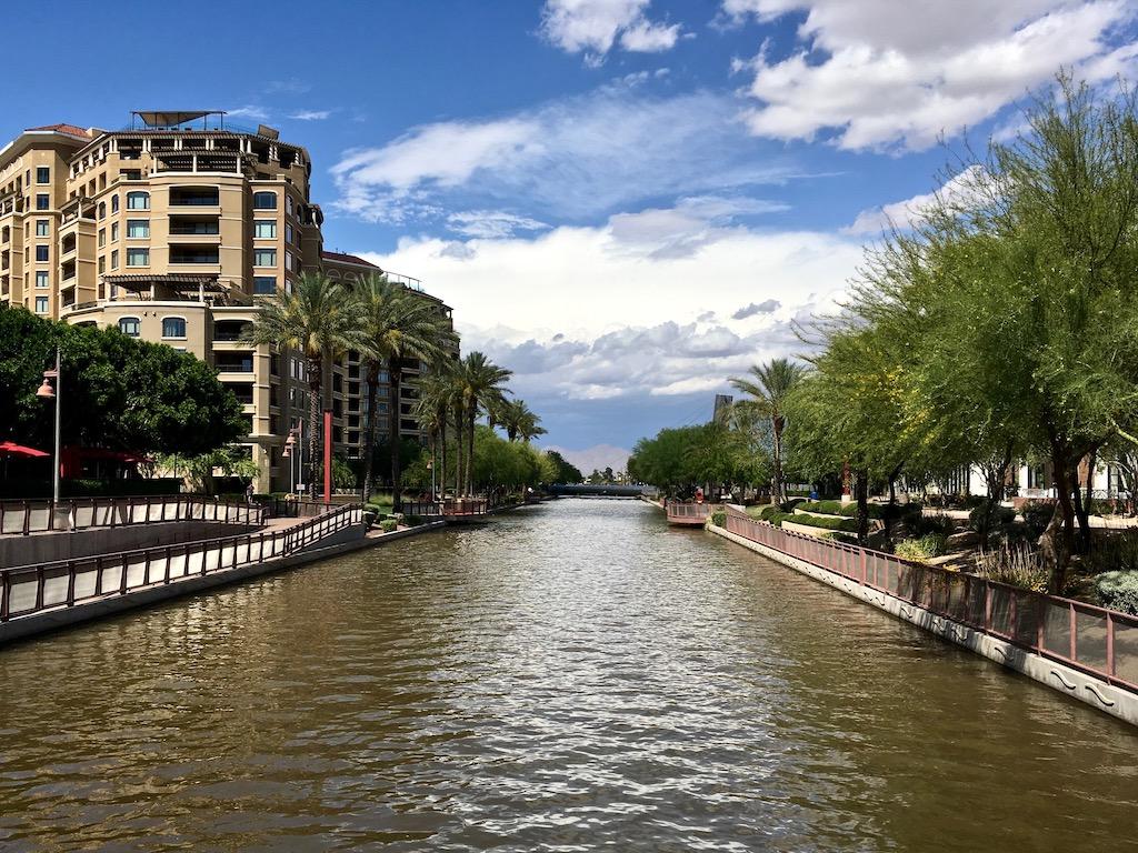 arizona canal trail scottsdale waterfront