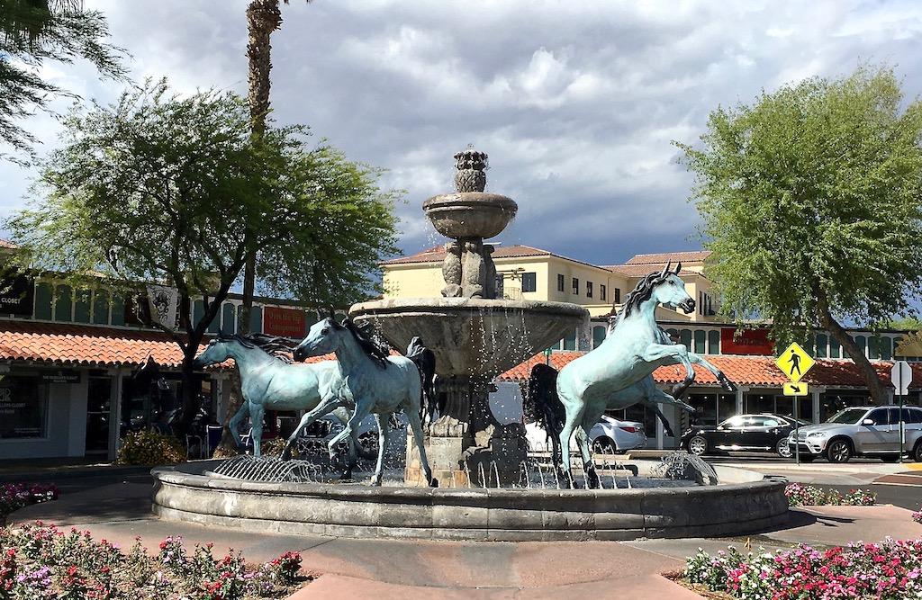 bronze horse fountain bob parks scottsdale arizona