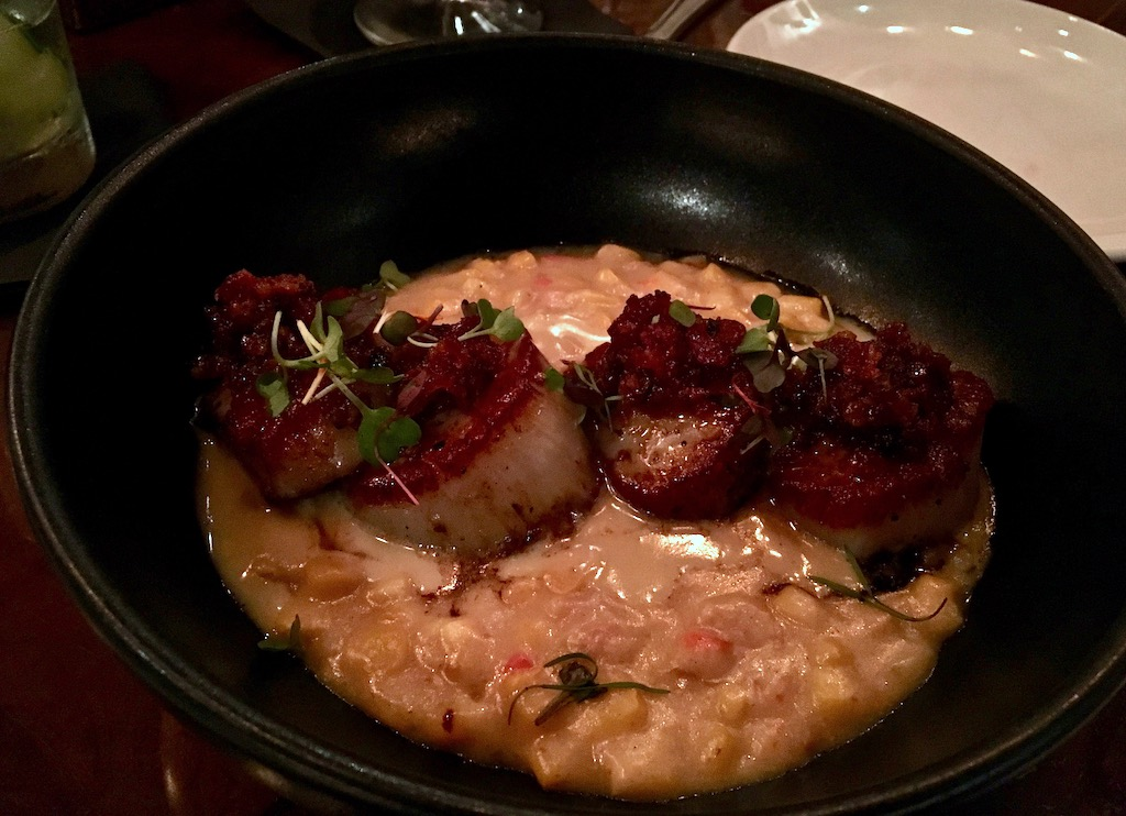 seared scallops creamed corn southern social florida