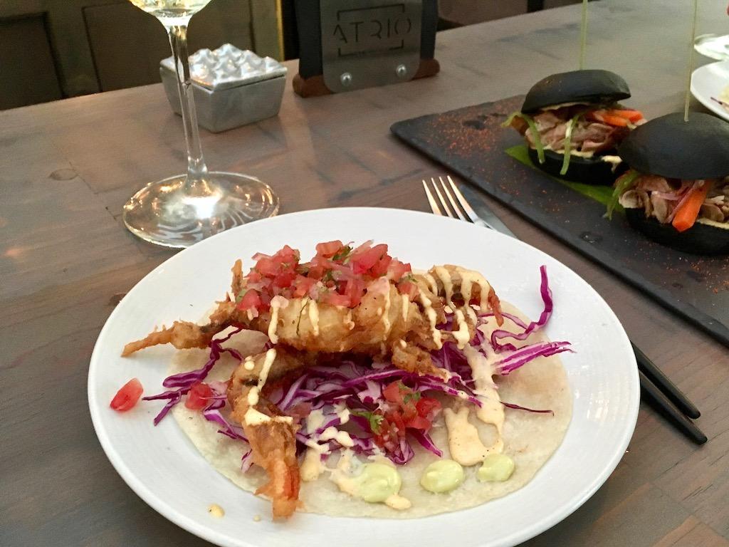 soft shell crab taco atrio san miguel de allende