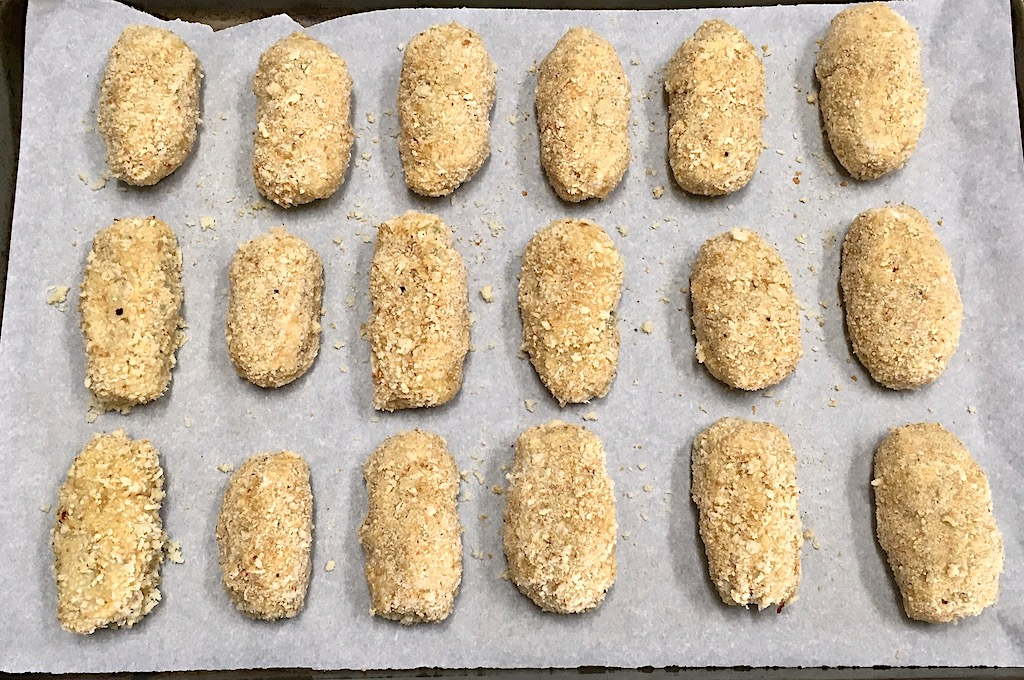 breaded croquetas ready to fry