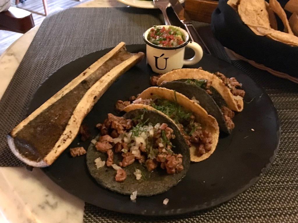 steak and marrow tacos La Unica SMA