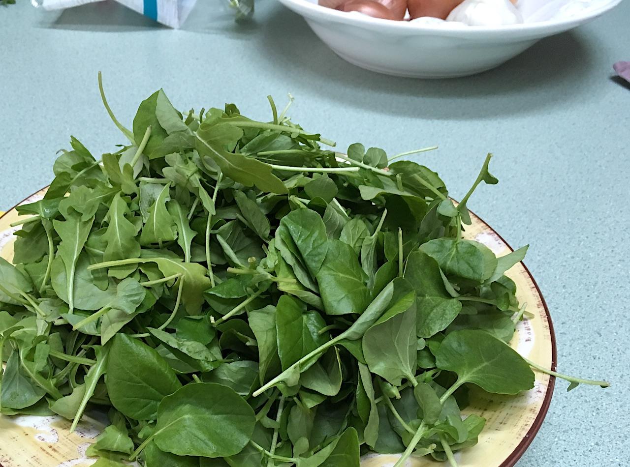 Arugula and watercress greens
