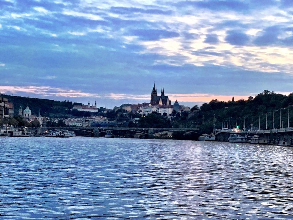 Vltava River Prague Castle